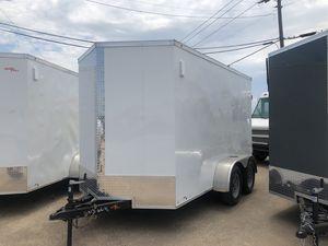Enclosed 6x12 cargo w barn doors for Sale in Dallas, TX