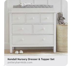 Pottery Barn Kendall Crib and Dresser (with topper) for Sale in San Diego, CA