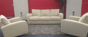 Natuzzi Microfiber Sofa and 2 Chairs for Sale in Davie, FL