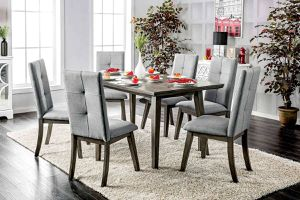 5 pcs gray Dining set•Solid wood•$49 down no credit needed for Sale in Las Vegas, NV