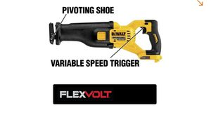 DEWALT FLEXVOLT 60-Volt MAX Lithium-Ion Cordless Brushless Reciprocating Saw (Tool-Only) for Sale in Rayne, LA