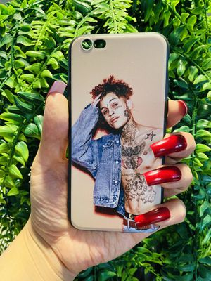 Brand new cool iphone 6, 6s REGULAR case cover rubber silicone lil skies tattoo rap mens guys hypebeast hypebae womens girls hype swag for Sale in San Bernardino, CA