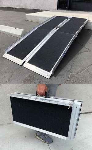 """New $115 Non-Skid 5' ft Aluminum Portable Wheelchair Scooter Mobility Folding Ramp (60x28"""") for Sale in Pico Rivera, CA"""