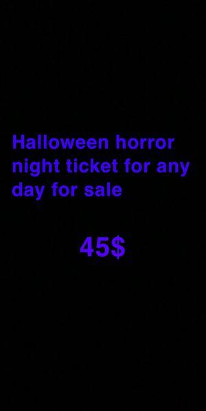 Halloween horror nights ticket for Sale in Jupiter, FL