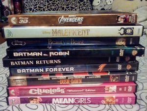 9 Movie DVD Blu Ray Bundle for Sale in Fresno, CA