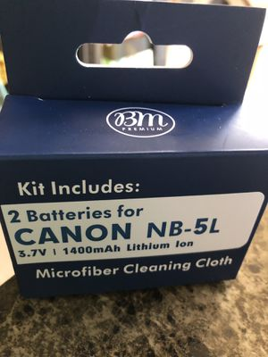 2 Canon Lithium Batteries for Sale in Palm Coast, FL