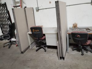 Cubicle desks.....with file cabinets. for Sale in Chula Vista, CA