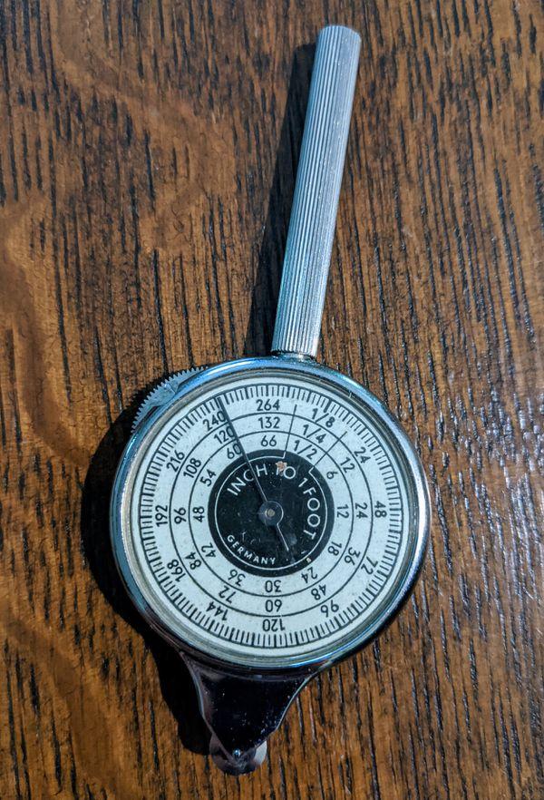 Vintage Brookstone Company Map Meter (Opisometer) #2962