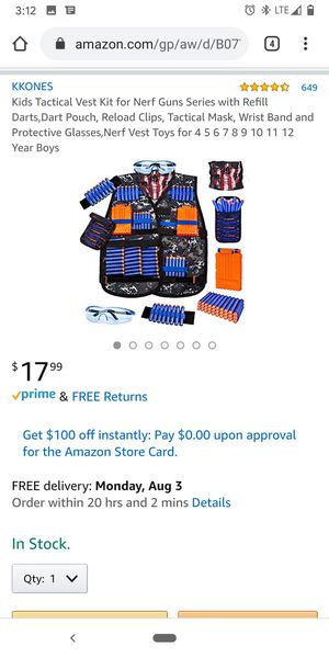 Nerf vest set for Sale in Stone Mountain, GA
