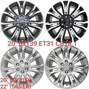"20"" 22"" chevy wheels new in boxes 6 lug 6x139.7 for Sale in Pembroke Pines, FL"