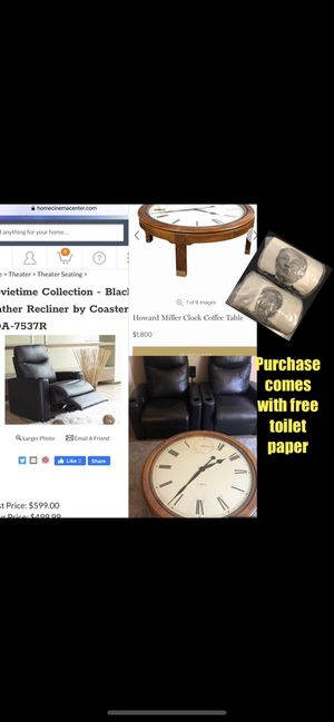 *Delivery* Leather Coaster Theater recliner's $850 both or $1k table for Sale in Los Angeles, CA