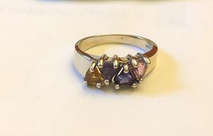 10k solid white gold ring,4 colorful stone,3.78 grams, size 5.5, please look at all pictures for more details for Sale in Aurora, IL