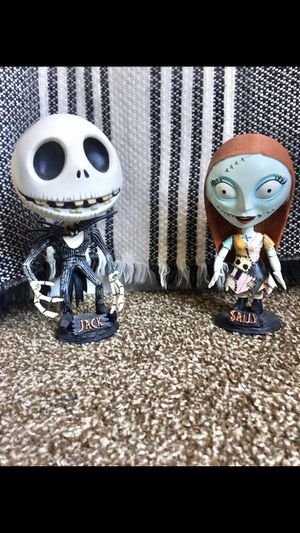 NBC Nightmare before Christmas Jack and Sally Head Knocker/Bobbleheads for Sale in Phoenix, AZ