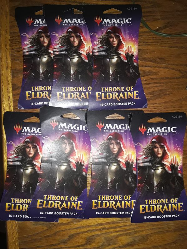 MTG Magic the Gathering 7 Throne of Eldraine 15-card Booster Packs