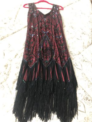 Metme women's 1920's Vintage Flapper Fringe Beaded Party Dress for Sale in Visalia, CA