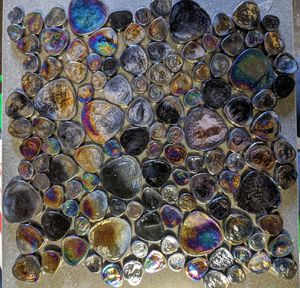 Black iridescent pebble glass mosaic tile for Sale in Pomona, CA