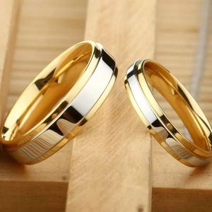 18K Gold plated Engagement/ Wedding Matching Ring Set- UNISEX for Sale in Sacramento, CA