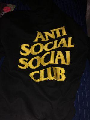 black and yellow anti social social club hoodie for Sale in Phoenix, AZ