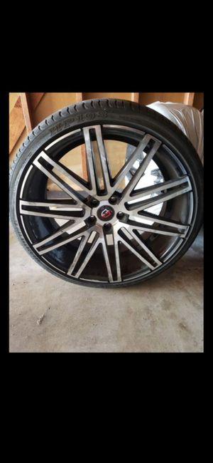 4 tires / rines / llantas for Sale in Lynwood, CA