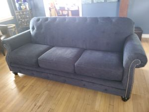 Ashley indigo couch. Stunning. MUST GO for Sale in Cleveland, OH