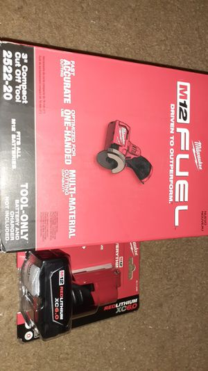 """Milwaukee M12 Fuel 3"""" Compact Cut Off Tool With Redlithium XC6.0 Battery for Sale in Baltimore, MD"""