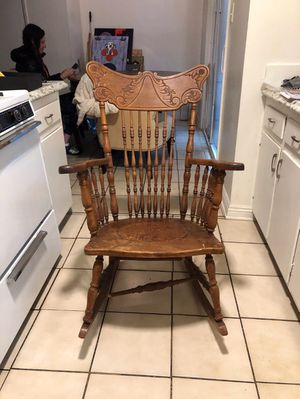 Antique wooden rocking chair for Sale in Los Angeles, CA
