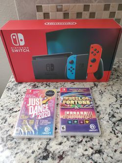 Nintendo Switch V2 Neon with Games (Brand New) for Sale in Orlando,  FL