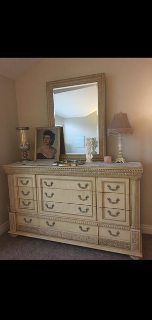 Beautiful Pulaski Bedroom Set Armoire dresser night stand for Sale in Modesto, CA
