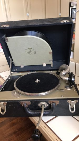 Birch no. 30 crank phonograph record player for Sale in La Mesa, CA