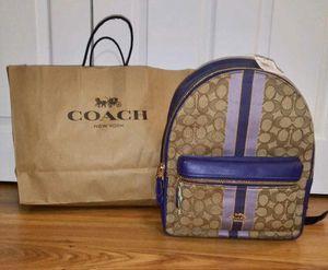 Coach Signature Medium Backpack Jacquard Purple Stripe for Sale in Pasadena, MD