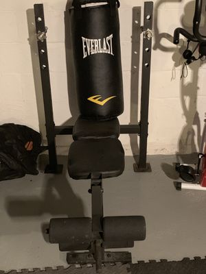 Bench and punching bag for Sale in Columbus, OH