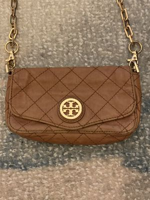 Tory Burch Brown Quilted Mini Bag with Gold Chain for Sale in Brooklyn, NY