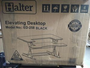 "Halter Black Height adjustable 36"" stand-up Desk Converter Quick sit to Stand Tabletop Dual Monitor Riser Model No:ED-258 for Sale in Vernon, CA"