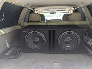 Two 12in Orions in a ported box with a 600w Kenwood amp for Sale in Glen Burnie, MD