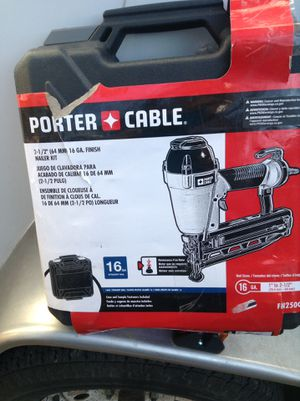 16 gal porter cable nail gun for Sale in Greenville, SC
