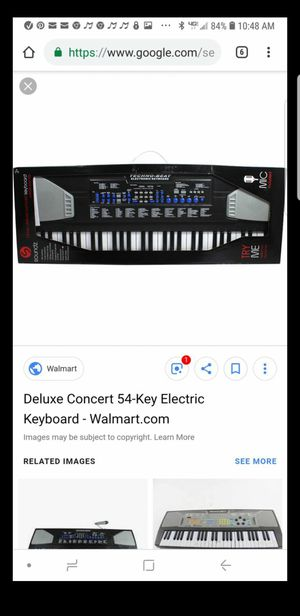 Deluxe Concert 54-Key Electric Keyboard for Sale in Chula Vista, CA