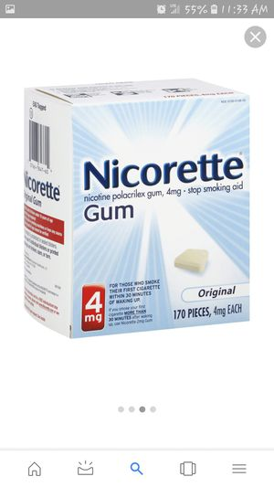 New Nicorette chewing gum 4mg for Sale in Cleveland, OH