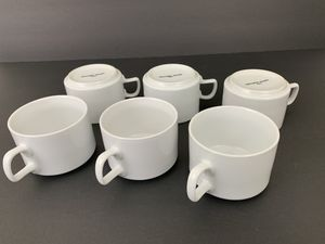 Northwest Airlines Abco First Class Cup Ceramic White Capacity 6 Ounces Lot of 6 for Sale in Renton, WA
