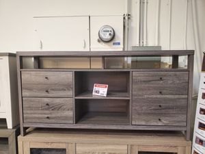 Jane TV Stand up to 70in TVs, Distressed Grey for Sale in Huntington Beach, CA