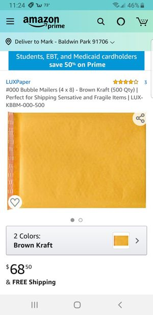 "Padded mailer envelopes 6"" x 9"" for Sale in Irwindale, CA"