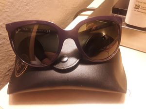 RayBan Dark Purple Sunglasses With Case for Sale in Colorado Springs, CO