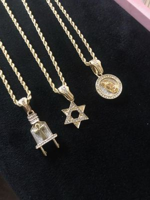 14k gold chains + pendants for Sale in Owings Mills, MD