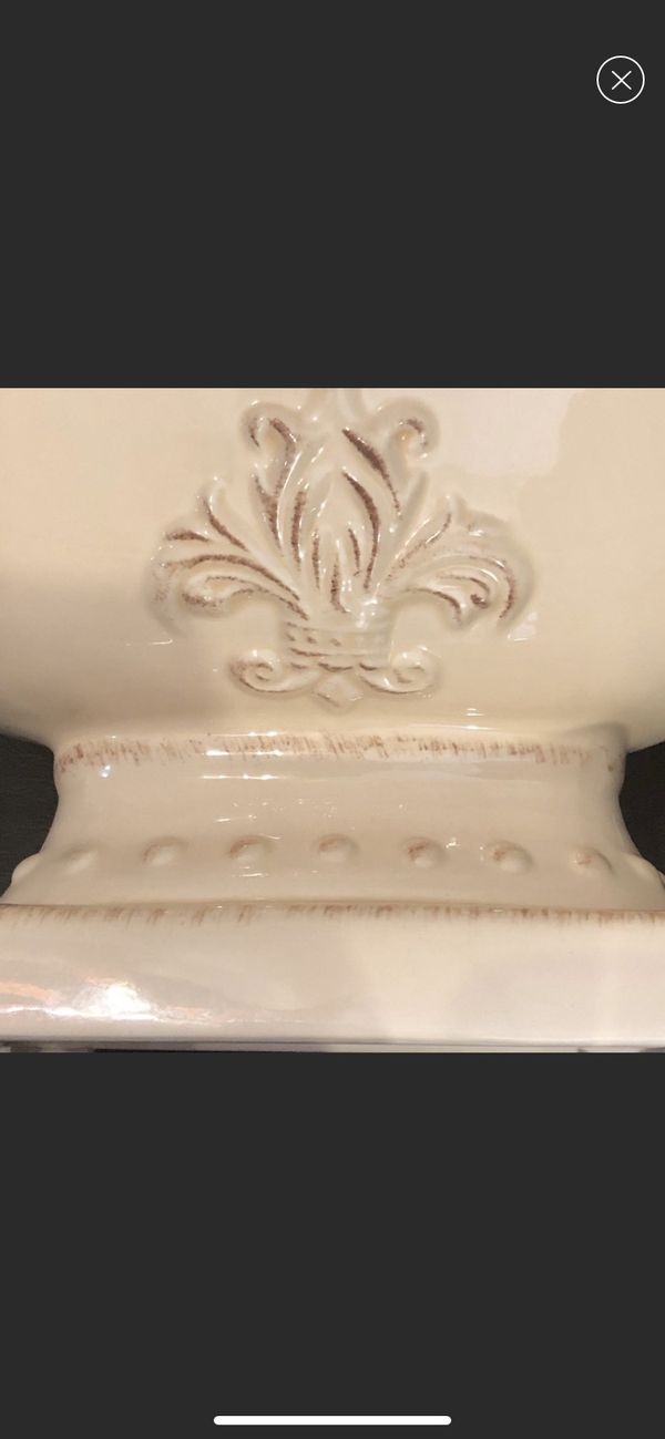 VINTAGE TROPHY STYLE CERAMIC DECOR VASE BOWL