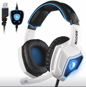 SADES Spirit Wolf 7.1 Surround Stereo Sound USB Computer Gaming Headset with Mic for Sale in Union City, CA