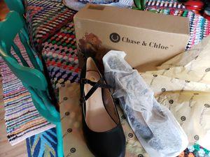 Ballerina style black wedge flats NEW in box sz 7.5 for Sale in San Antonio, TX