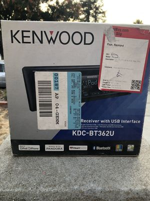 Kenwood Car Stereo Receiver with USB for Sale in San Jose, CA