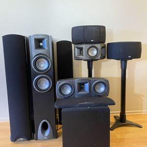 Klipsch Synergy 5.1 Speaker Setup OBO for Sale in Murrieta, CA