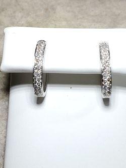 14kt White Gold Diamond Pave Earrings for Sale in Las Vegas,  NV