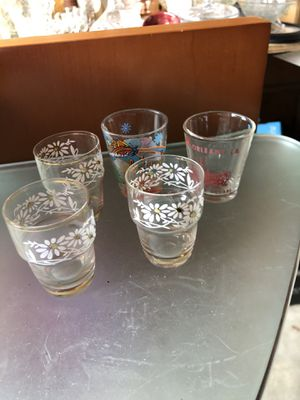 5 different shot glasses for Sale in Marion, NC