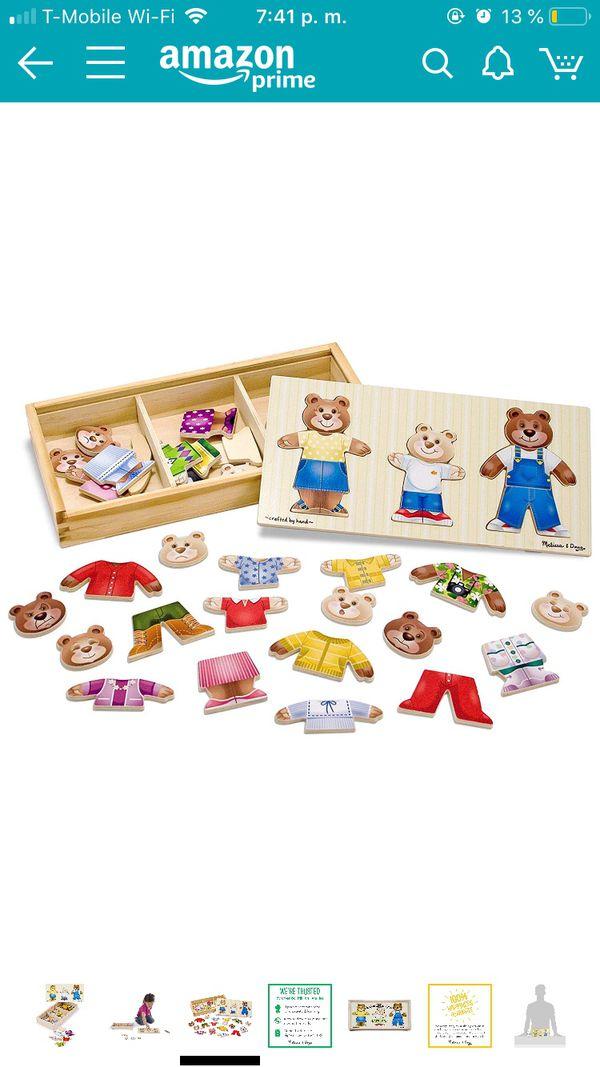 melissa and doug bear family dress up puzzle